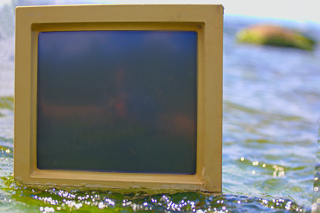 surrounds: unusual frame sea surrounds computer monitor