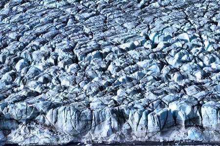 roze: frontal wall of Roze glacier. Northern island of Novaya Zemlya