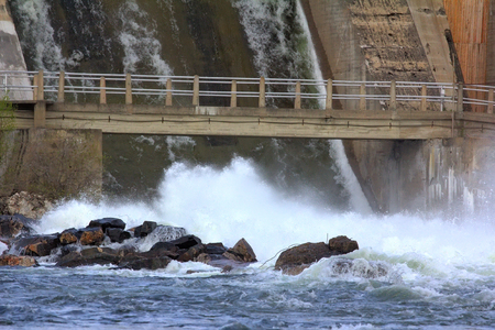 hydroelectric power station: View of falling water for hydroelectric power station