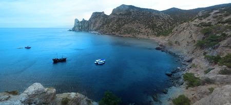 Views of Crimea. Black sea coast of Crimea