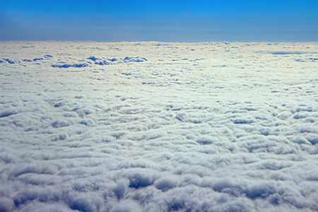 cotton wool: Clouds like cotton wool  top down view