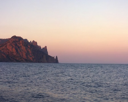 annexation: Views of Crimea. Black sea coast of Crimea