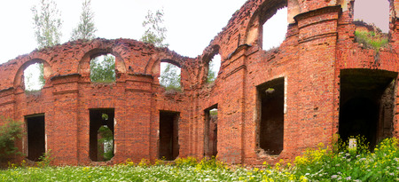 Majestic Ruins of stables and headquarters of hussars of 19th century 2 Editorial
