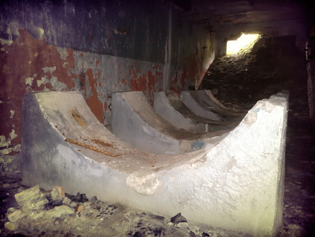 horror underground room with incredible. large room with a hole out