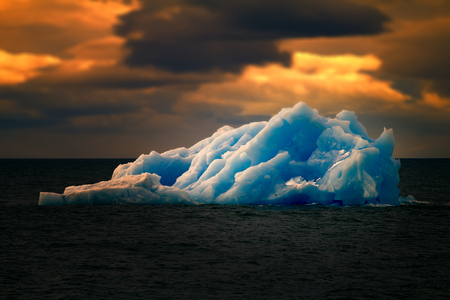 Arctic iceberg ice stock area Novaya Zemlya. array of ice floating in ocean Stockfoto
