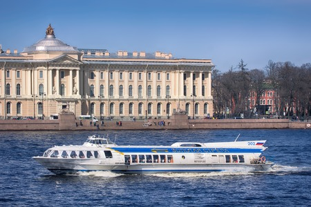 Russia, Saint Petersburg - may 1, 2017: Sphinx. Embankment. St. Petersburg. Neva River