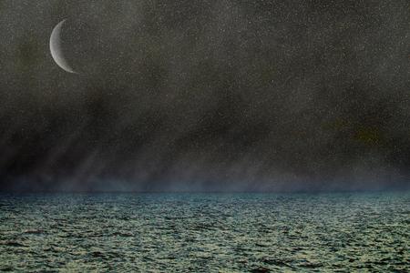whimsey: Fantasy nightfall on distant planet. R-galaxy, Alien Universe intergalactic war, computer games