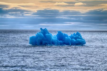 ice floe: Arctic iceberg ice stock area Novaya Zemlya. array of ice floating in ocean Stock Photo