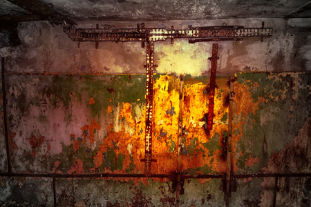 dungeon abandoned terrible with secret. supernatural atmosphere on objects