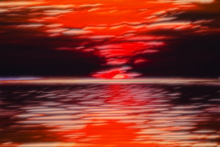 abstract background computer generated. style of sea sunset with reflection