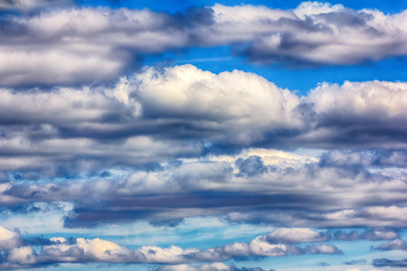 series of Cumulus clouds on summer day, top of summer Stok Fotoğraf