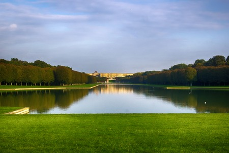Ideal square Versailles ponds, lawns with Royal Palace, Royal residence. Copy of the Earthly Paradise