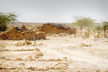Desert dwellers in crumbling villages. Water shortage