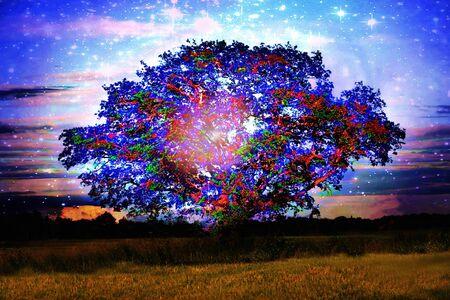 Fantasy sacred oak of the Celts
