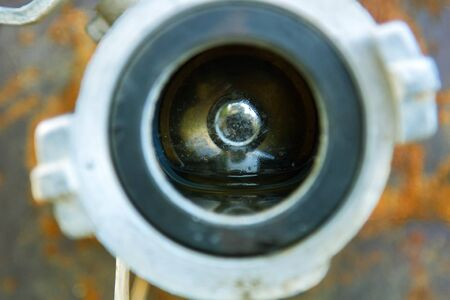 Ball valve on the plug of the pipeline (water supply)