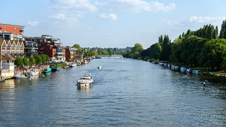 Kingston upon Thames, barche a vela, Londra, Regno Unito 21 maggio 2018