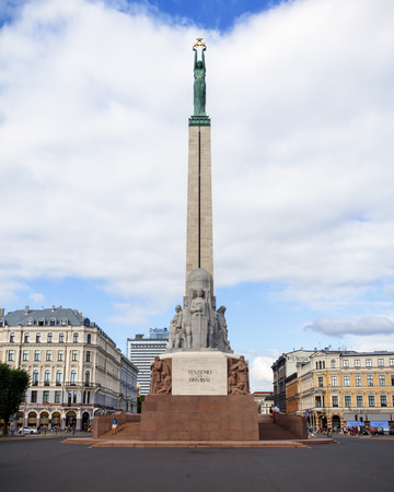 Monument of Freedom in Riga, Latvia, July 20 2018