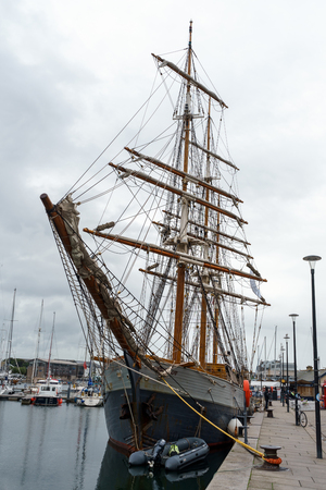 Ship Kaskelot in dock at Plymouth Harbour, Barbican, Plymouth, Devon, United Kingdom, 20th August 2018 報道画像