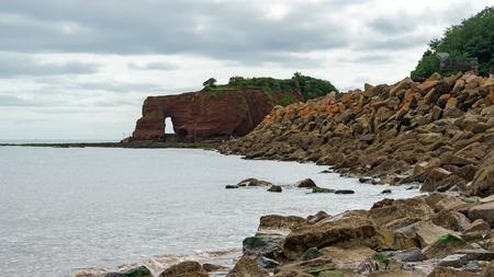 Langstone Rock, near Dawlish Warren, Devon United Kingdom Zdjęcie Seryjne