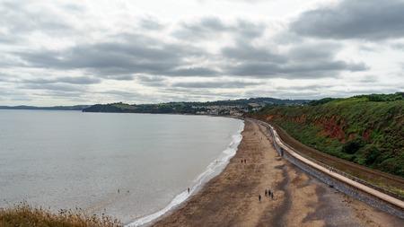 Seaside views of Dawlish Warren in Devon, United Kingdom