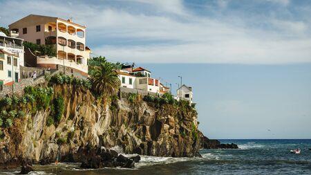 View of Camara de Lobos and Atlantic ocean, Madeira island, Portugal, October 10, 2019 스톡 콘텐츠 - 137710073