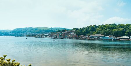 Waterfront buildings and old quay, Bayards Cove, Dartmouth, South Devon, England.