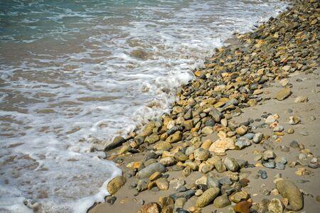 turquoise sea water of Mediterranian Coast landscape. 스톡 콘텐츠