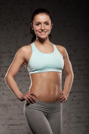 Portret van een jonge fitness vrouw Stockfoto