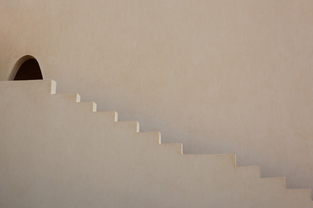 Arabic, eastern architecture, tourism decoration, the shadow of the steps Archivio Fotografico
