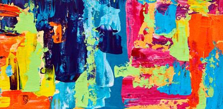 抽象画油絵。アート筆水彩。近現代の作品。カラフルな背景