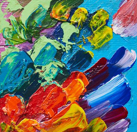 Pittura a olio astratta. Acquerelli di pennellate di arte. Opere d'arte moderna e contemporanea. Sfondo colorato Archivio Fotografico - 95118869