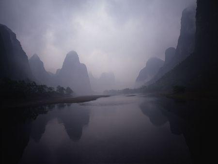 guilin: Taken in Guilin, along the river Lijiang. It was misty.
