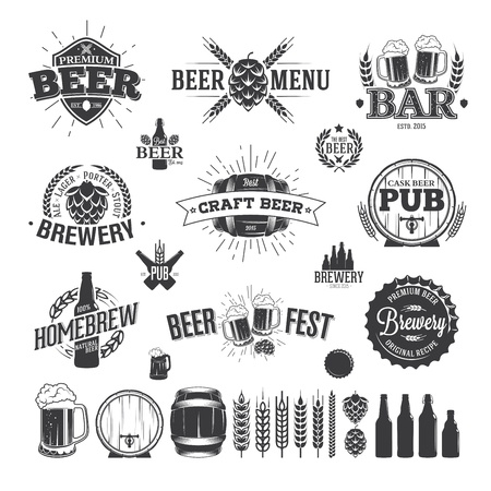 Beer Label en Logos Stockfoto - 47047986