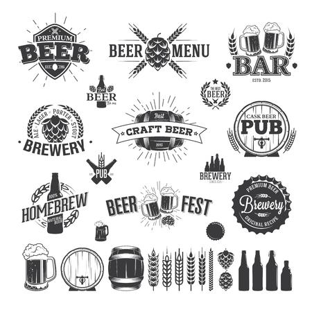 Tiquette de bière et Logos Banque d'images - 47047986