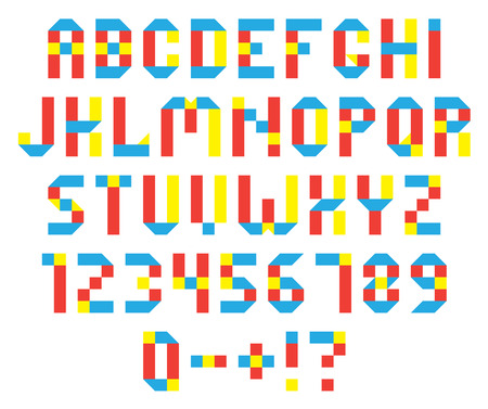 colorful vector alphabet