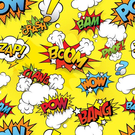 comic: Fondo sin fisuras comix Vectores