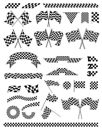 bandera carrera: checkered flag vector