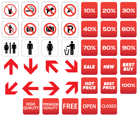 indices: pictogram prohibited sale discounts
