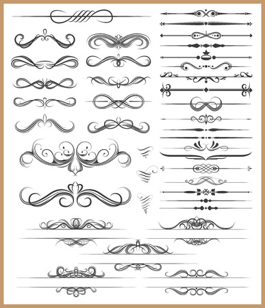 dingbats: Calligraphic decorative elements Illustration