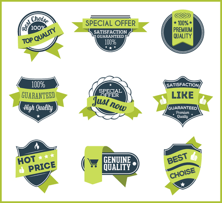 choise: Green marketing labels set of 5