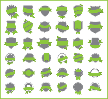 best quality: Green stickers set 4 Illustration