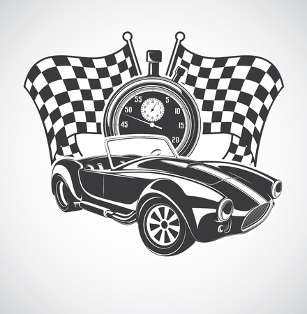 automotive industry: racing car Illustration