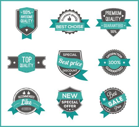 choise: Turquoise label marketing set of 3