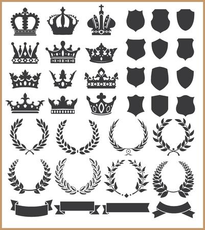 insignias: Guirnaldas y coronas