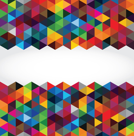 colorful background: Abstract modern geometric background Illustration