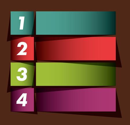 flèche double: Infographies les options bannière Illustration