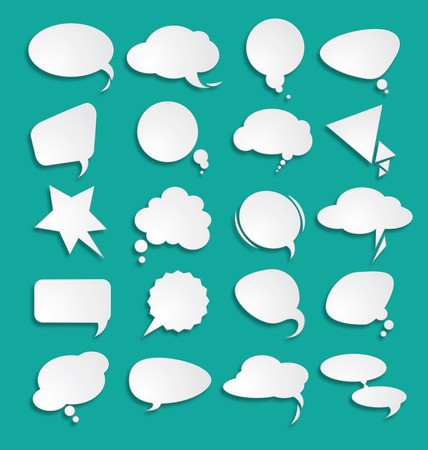 White clouds dialog Stock Vector - 47274362