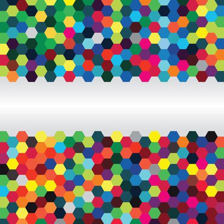 Abstracte achtergrond van zeshoeken Stock Illustratie