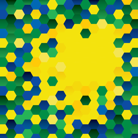 Geometric background colors of the Brazilian flag
