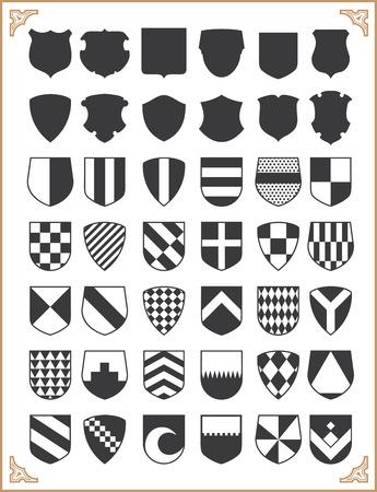 escudo: Conjunto de escudos de vector